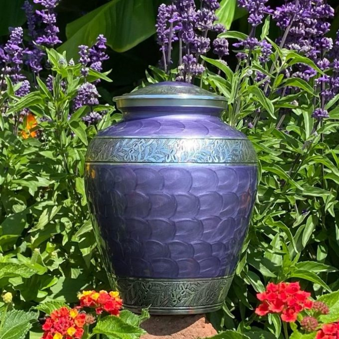 Always and Forever Memorial Products: Grace Lavender Urn