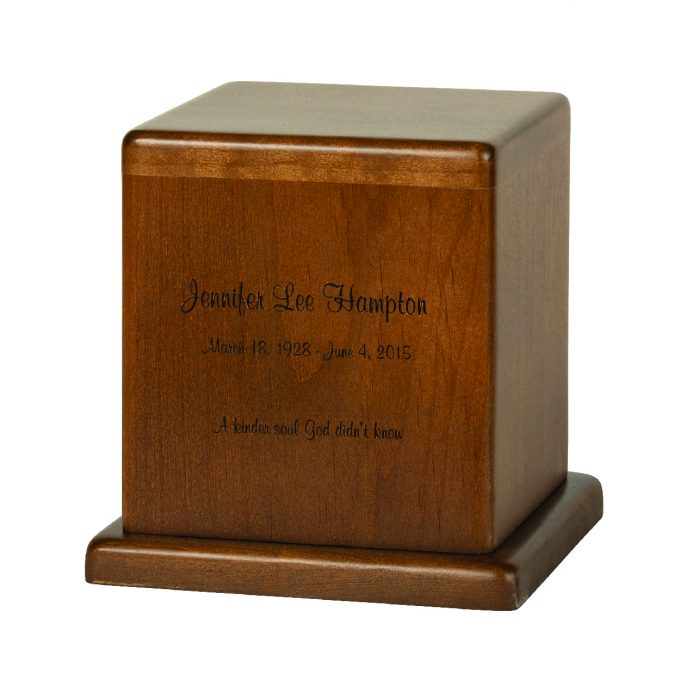 Always and Forever Memorial Products: Hampton Walnut Urn