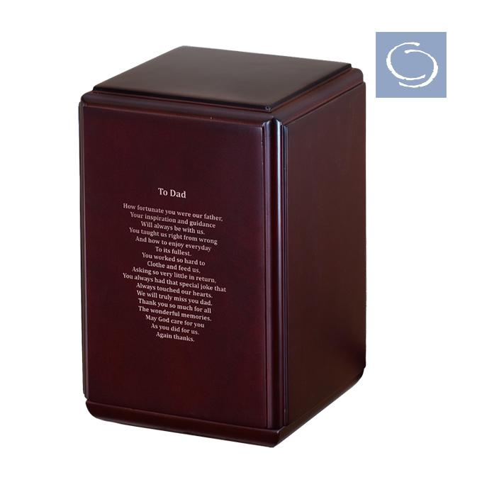 Always and Forever Memorial Products: Provincial Cherry Dad Urn