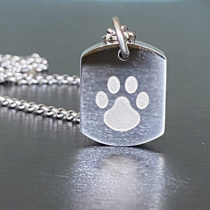 Always and Forever Memorial Products: Pet Paw Tag Pendant
