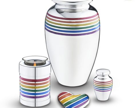 Always and Forever Memorial Products: Rainbow Pride Urn Collection